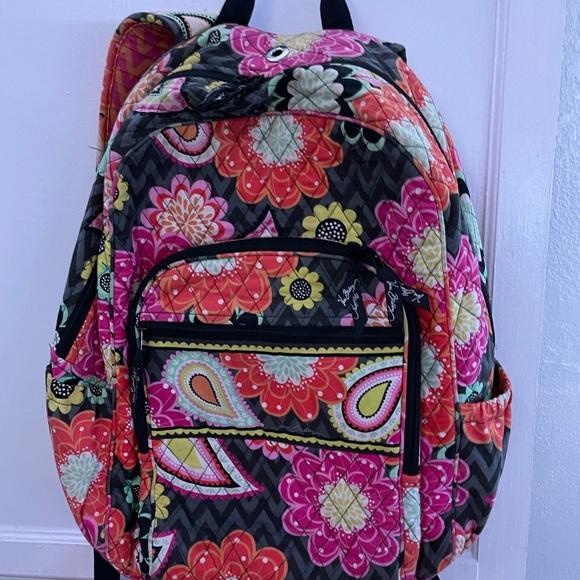 Vera Bradley- Ziggy Zinnia Campus Backpack-USED